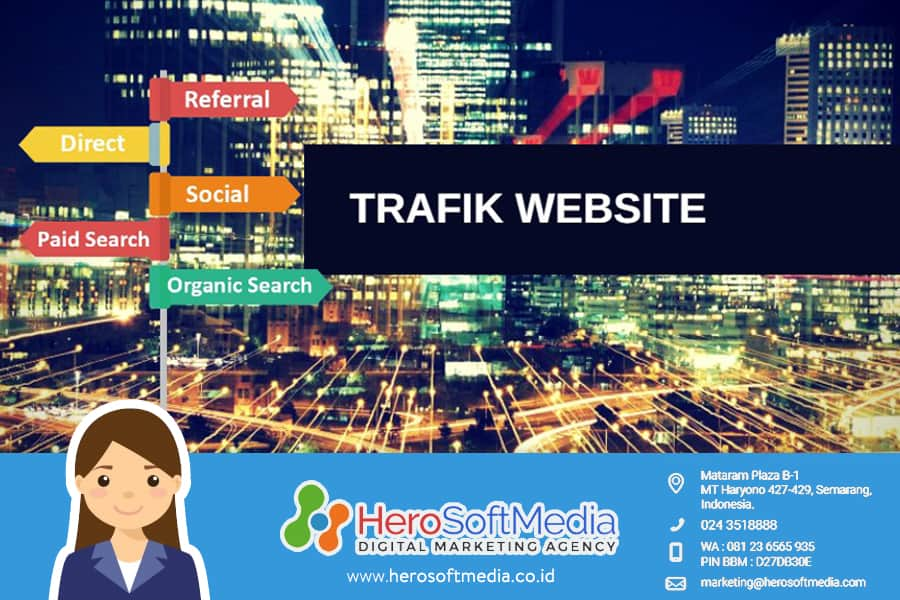 jenis trafik website google analytics